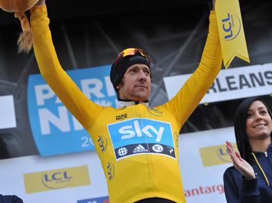 Still leading after stage 5, Bradley Wiggins (image courtesy of official Paris-Nice website)