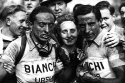 Serge and Fausto Coppi (l to r), (image courtesy of www.corvos.nl)