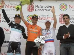 Last year's Podium including Miguel Indurain on far right (image courtesy of Euskaltel-Euskadi)