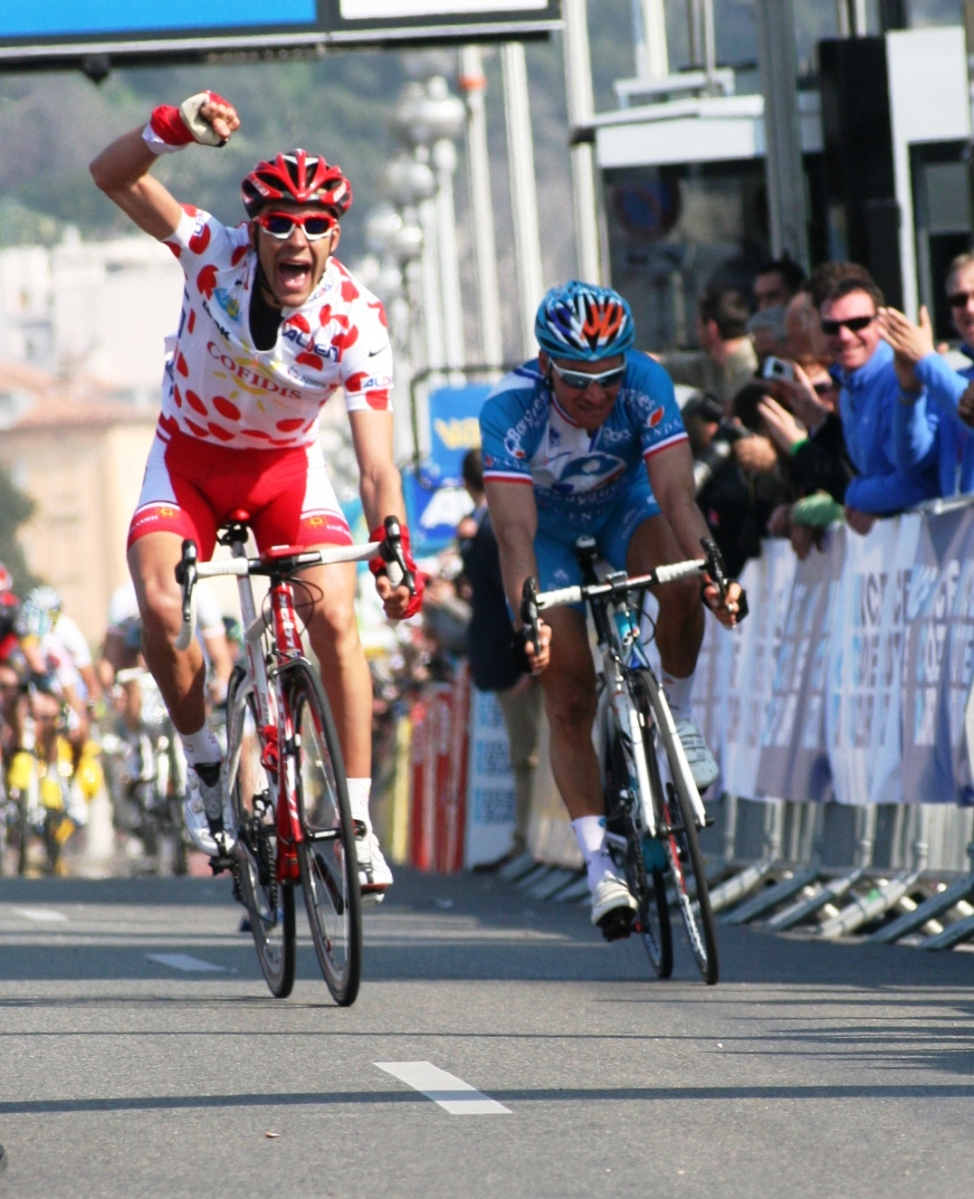 Amael Moinard wins final stage and King of Mountains jersey Paris-Nice 2010 (image courtesy of Susi Goetze)