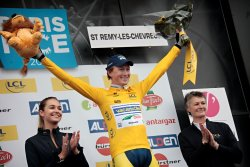 Gustav Erik Larsson wins stage 1 Paris-Nice (image courtesy of official Paris-Nice website)