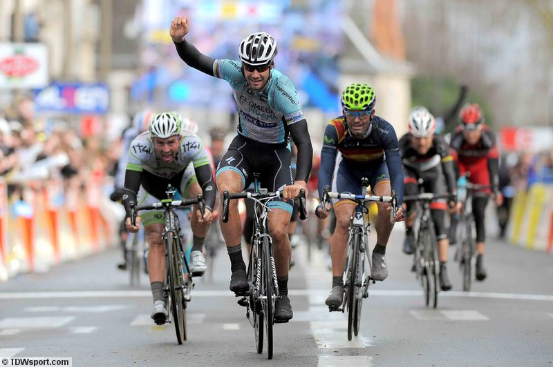 Tom Boonenwins stage 2 Paris-Nice (image courtesy of Omega Pharma Quick Step official website)