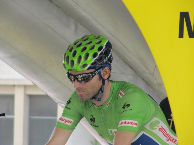 Alejandro Valverde in start gate at Paris-Nice (image courtesy of Olivier Muzio)