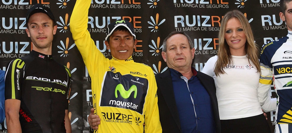 Podium at Vuelta a Murcia (image courtesy of Movistar Official website)