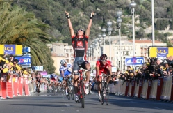 Luis Leon Sanchez Winner of stage 7 Paris-Nice 2008 (image courtesy of Susi Goetze)