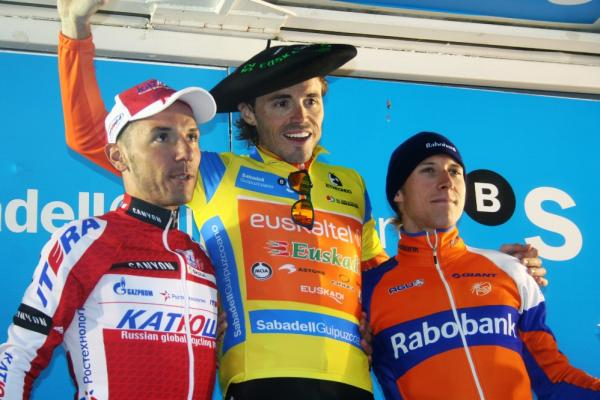 Vuelta al Pais Vasco 2012 Podium (image courtesy of Susi Goertze, CyclingInside)