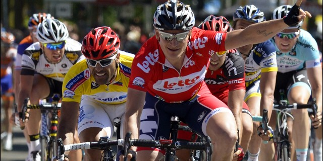 Three in a row for Andre Greipel in Tour of Belgium (image courtesy of Lotto-Belisol)