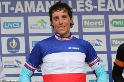 Sylvain Chavanel record equaling 4-times national time-trial champion (image courtesy of Omega Pharma QuickStep)
