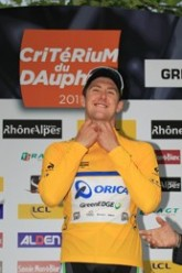 Luke Durbridge of Orica-Greenedge wins prologue (image courtesy of official race website)