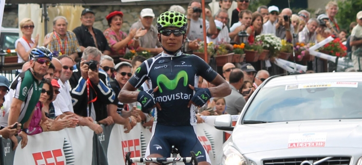 Nairo Quintano wins queen stage (image courtesy of Movistar)
