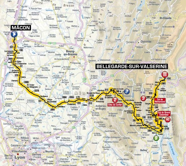 TdF 2012 Stage 10 map