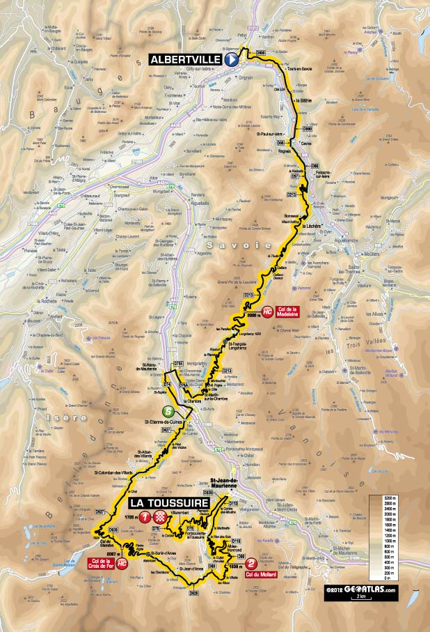 TdF 2012 Stage 11 map