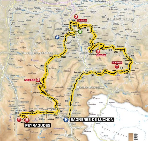 TdF 2012 Stage 17 map