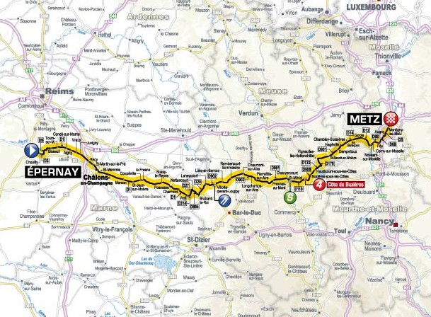 TdF 2012 Stage 6 map