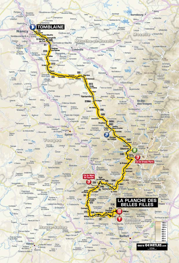 TdF 2012 Stage 7 map