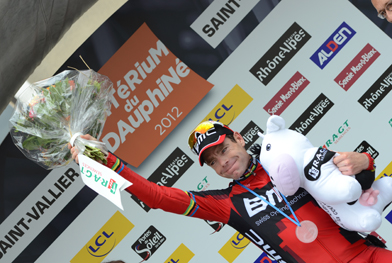 Stage one winner BMC's Cadel Evans (image courtesy of official race website)
