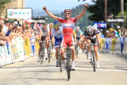Katusha's Daniel Moreno wins stage two (image courtesy of official race website)