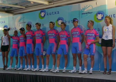 Clasica San Sebastian 2012 Team Lampre-ISD: Il piccolo principe - Damiano Cunego - far right
