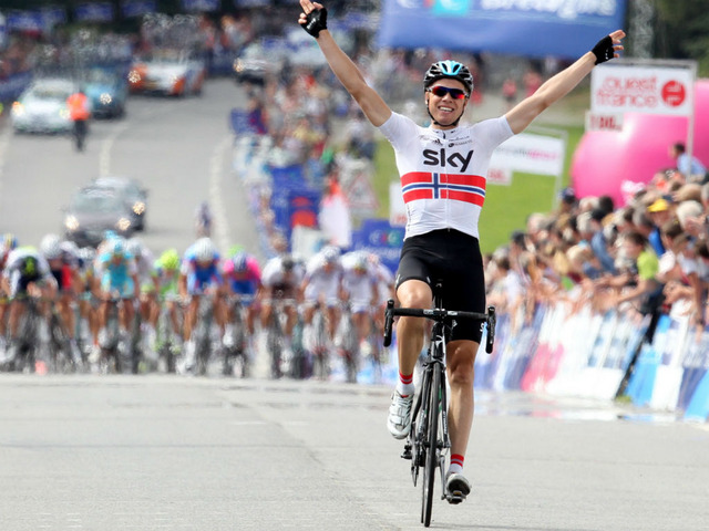 Edvald Boasson Hagen winner GP Ouest France'Plouay 2012 (image courtesy of Sky)