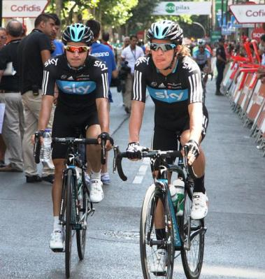 Uran (left) and Henao both had relatively quiet races