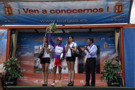 Dani Moreno overall winner Vuelta a Burgos 2012 (image courtesy of official race site)