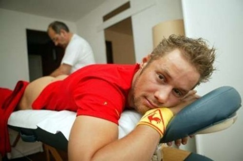 Wish 4: Tom getting a massage after his San Remo win?