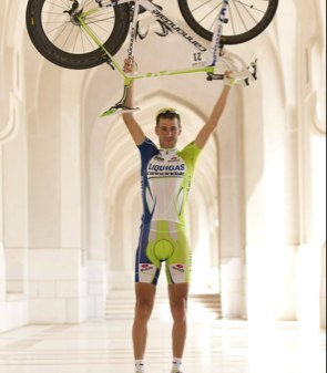 Birthday boy Mr Nibbles (image courtesy of Liquigas-Cannondale)