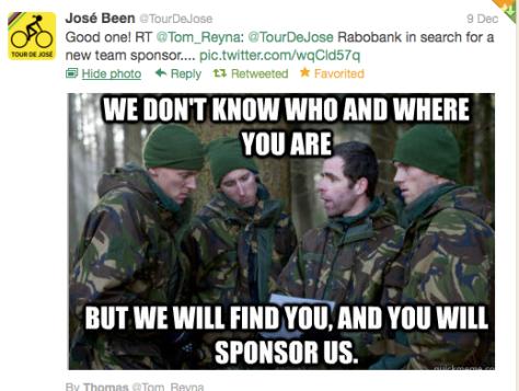 Rabobank sponsors