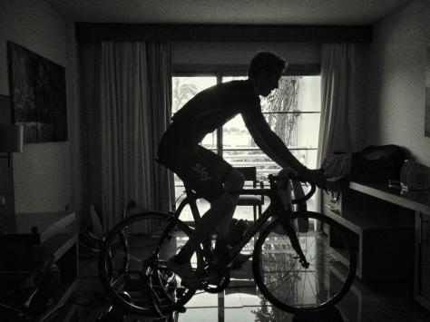 Ian on the turbo in Mallorca (image courtesy of team Sky)