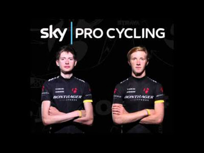 Joe Dombrowski and Ian Boswell, (l to r) the bright future of US Cycling (image courtesy of team Sky)