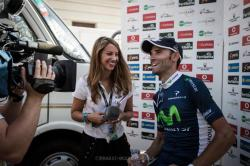 Laura with Alejandro Valverde at the Vuelta (image courtesy of Laura Meseguer)