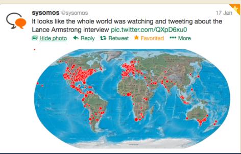 Tweet map