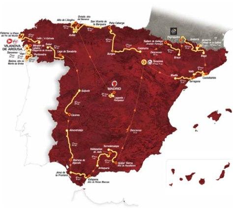 Vuelta 2013 map