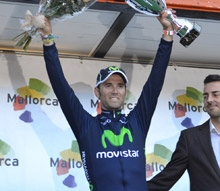 Alejandro Valverde wins on third day of racing (image courtesy of Movistar)