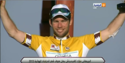 Cav victorious in Qatar (image coutesy of Omega Pharma-QuckStep)