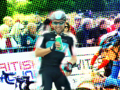 Bernie giving it the full-flirt for Francesca's camera at Tour of Britain!
