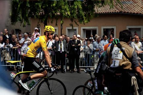 Wiggins in Limoux, Tour de France 2012