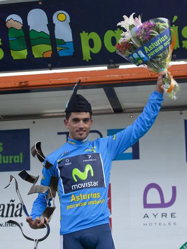 Beñat wins overall in Vuelta Asturias - love the hat!