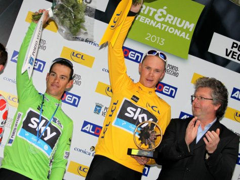 The deadly duo l to r Porte and Froome (image courtesy of Sky)