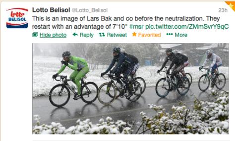 Snow peloton