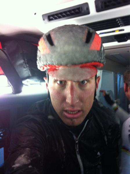 Milan-San Remo 2013 - quite cold! (Image: Taylor Phinney)