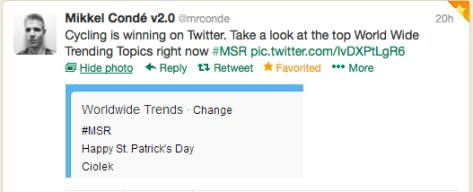 Twits Trending topics