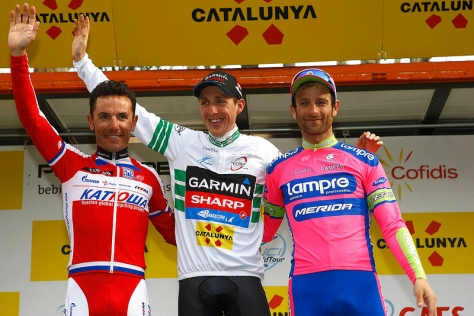 The podium l to r Rodriguez, Martin, Scarponi (image courtesy of Garmin-Sharp)