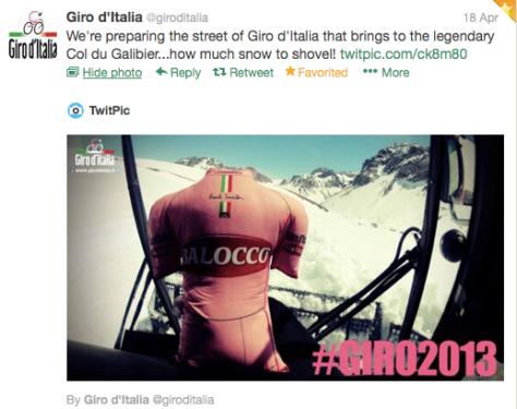 Giro on a snowplow