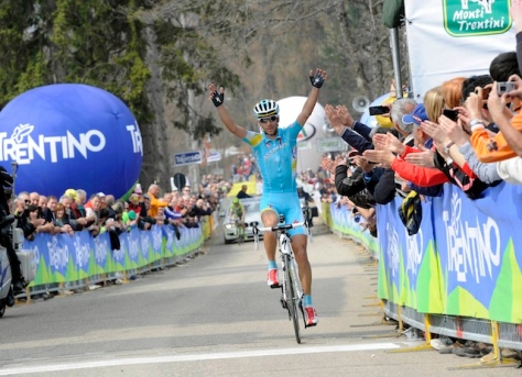 The Shark sinks is teeth into stage and overall (image: Giro del Trentino site)