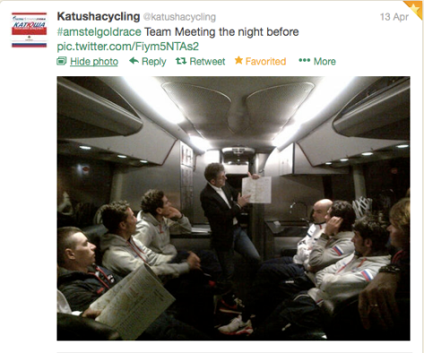Katusha Amstel briefing