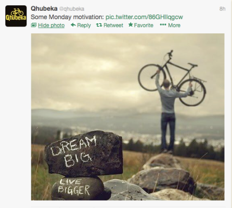 Qhubeka pic Live Bigger