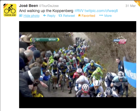 RVV walking up Kopp
