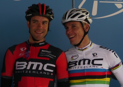 I wonder what's caught the eye of these two BMC boys, Amael Moinard and Philippe Gilbert?