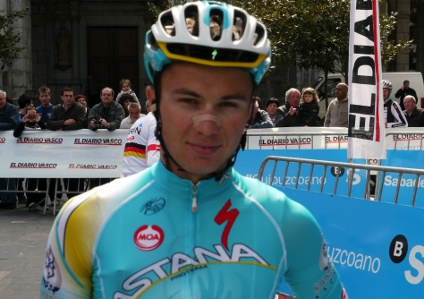 Alexey Lutsenko under 23 World Champion, called the next Sagan by team manager Alexandre Vinokourov (image: Richard Whatley)